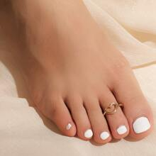 Hollow Out Heart Decor Toe Ring