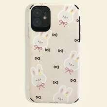 Funda de iphone con estampado de conejo y lazo