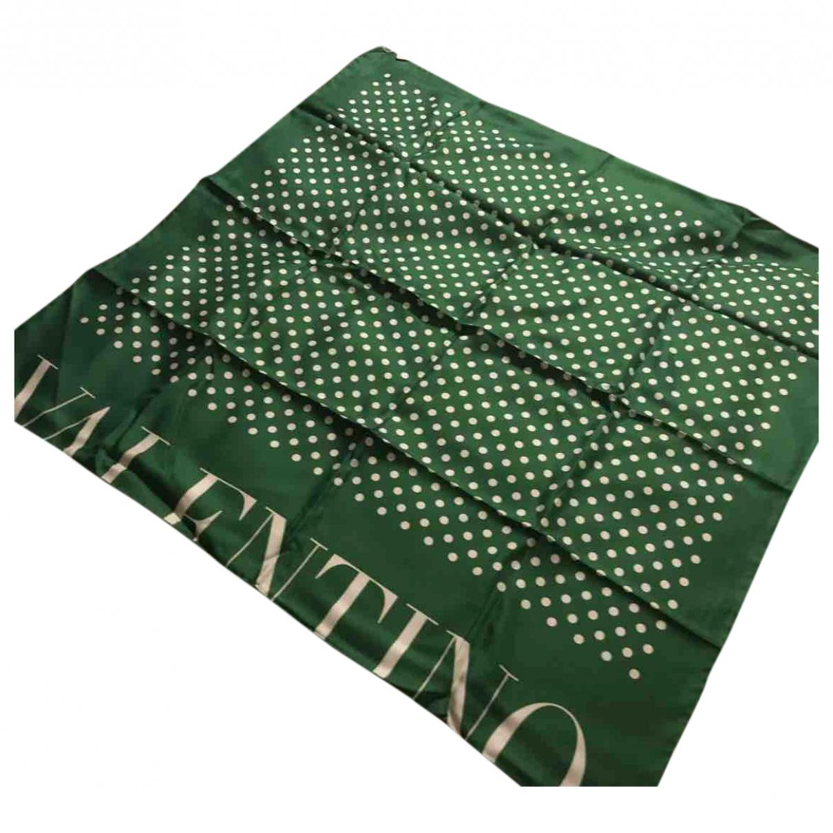 Valentino Garavani - Foulard   pour femme en soie - vert