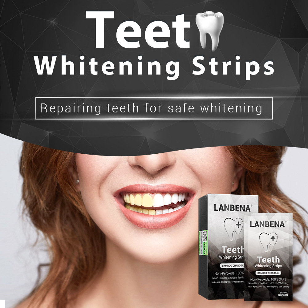 Teeth Whitening Strips Bamboo Charcoal Tooth Whitening Dental Stickers Repair Tooth Care