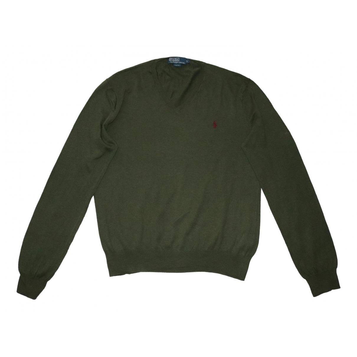 Polo Ralph Lauren \N Pullover.Westen.Sweatshirts  in  Khaki Baumwolle