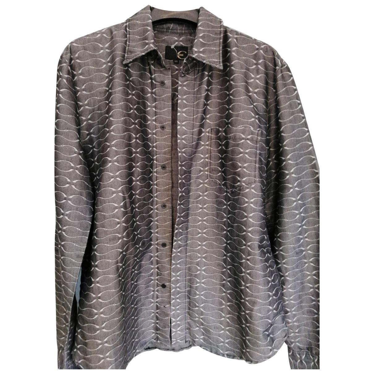 Just Cavalli - Chemises   pour homme en coton - metallise