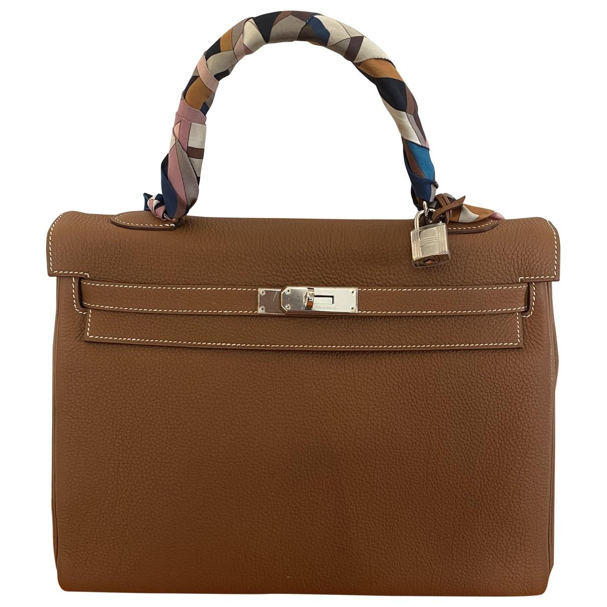 Hermès Kelly 35 Camel Leather handbag for Women \N