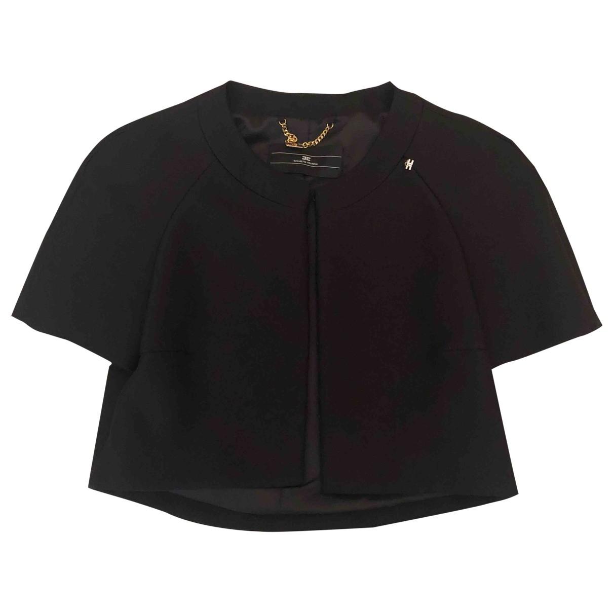 Elisabetta Franchi \N Black jacket for Women 42 IT