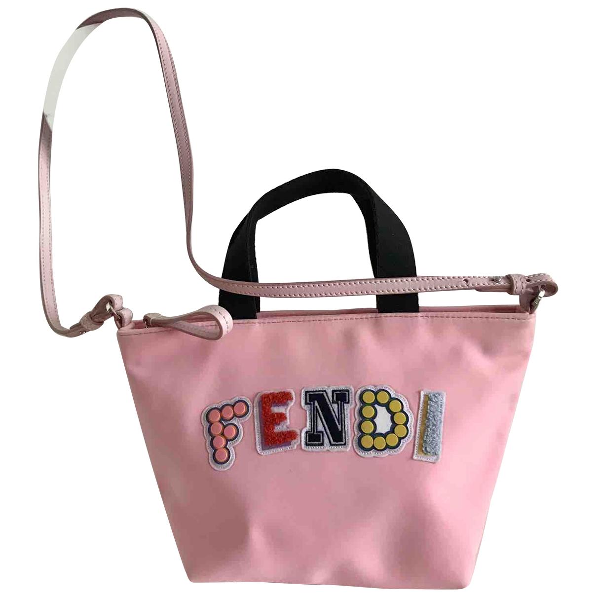 Fendi - Sac a main   pour femme en toile - rose