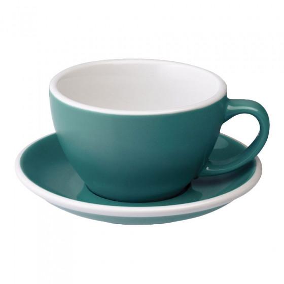 Cafe Latte Tasse mit Untertasse Loveramics Egg Teal, 300 ml
