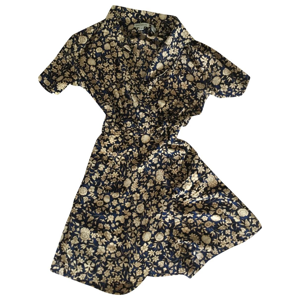 Ann Taylor \N Blue Silk jumpsuit for Women 38 FR