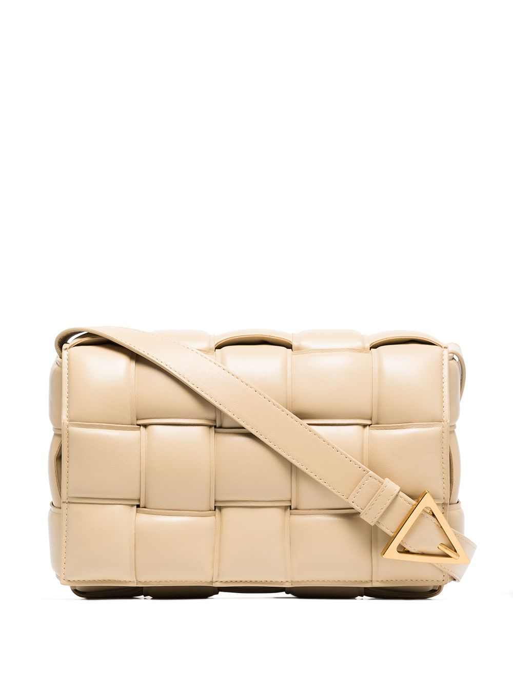 Cassette Padded Leather Shoulder Bag