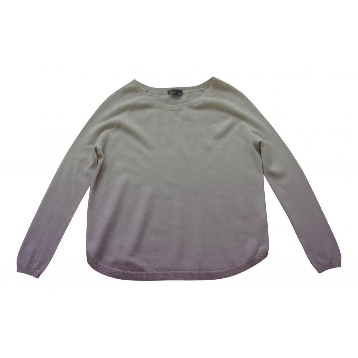 Vince - Pull   pour femme en laine - ecru