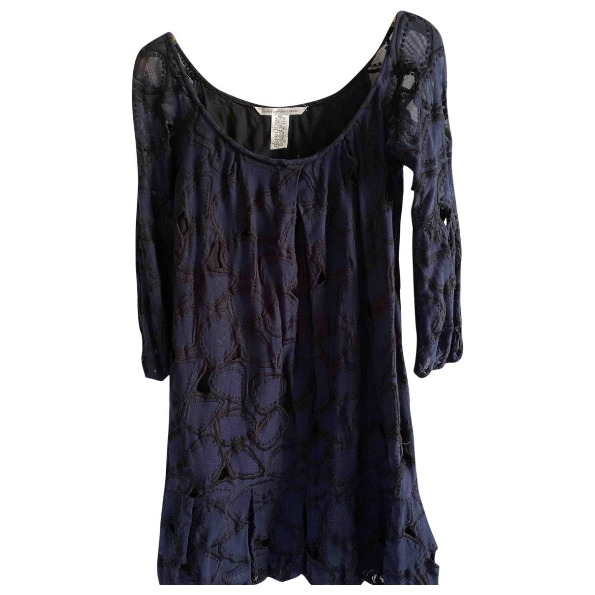 Diane Von Furstenberg \N Navy Cotton dress for Women 10 UK