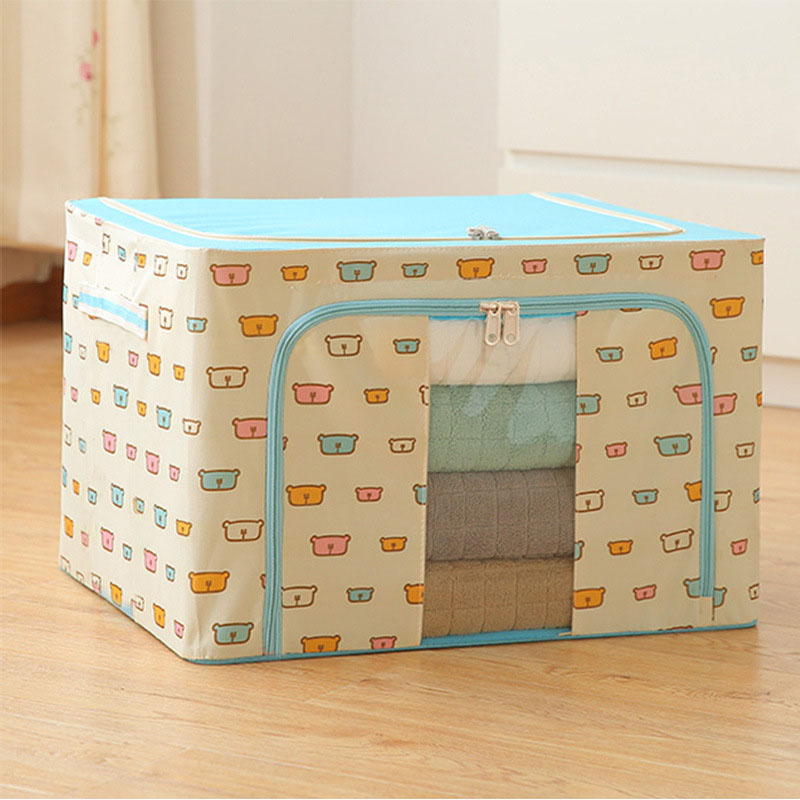 Cartoon Non-Woven Fabric Storage Bag Waterproof Mildew Proof Bedroom Storage for Quilt Cloth Duvet Cover Sets