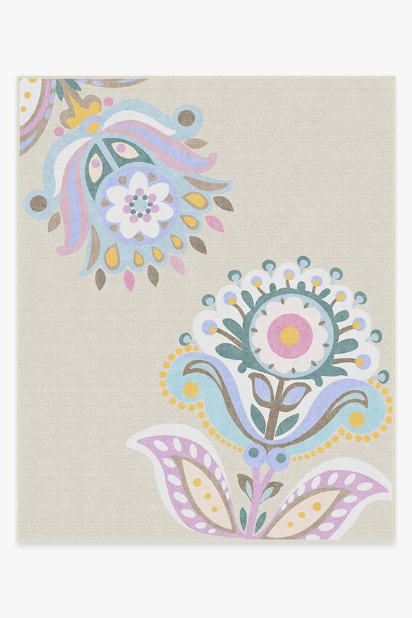 Washable Rug Cover & Pad | Cynthia Rowley In Bloom Pastel Rug | Stain-Resistant | Ruggable | 8'x10'
