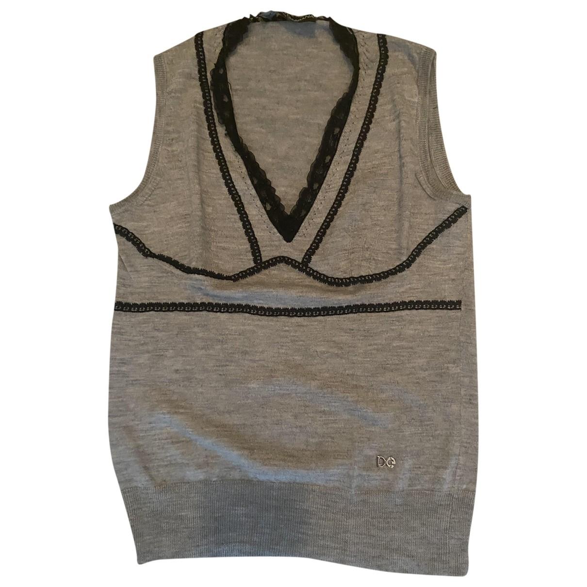Dolce & Gabbana \N Grey Wool  top for Women 38 IT
