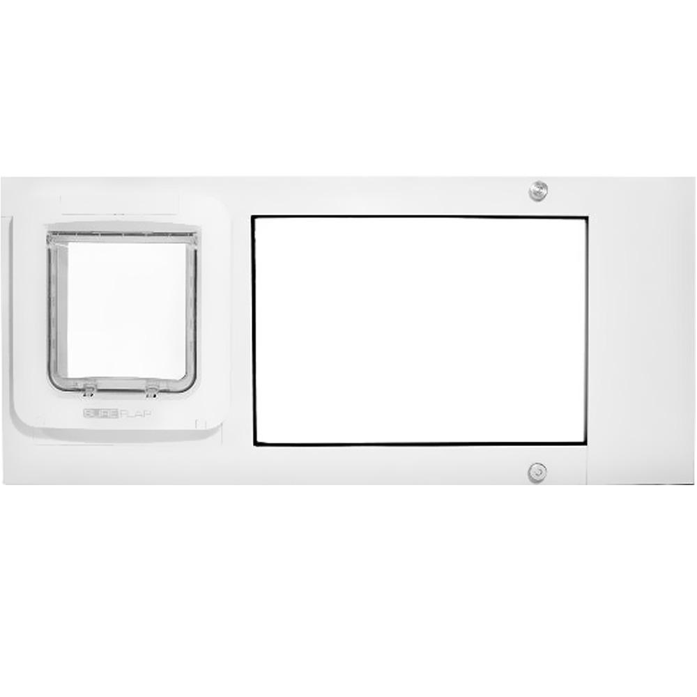 Endura Flap Pet Door - Thermo Sash 2e with Sureflap Microchip White Frame (34