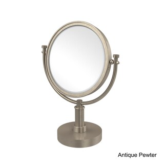 Allied Brass 8-inch 3x Magnification Vanity Top Make-up Mirror (Antique Pewter)