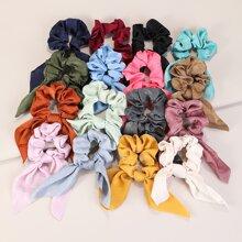 16 Stuecke Buntes Haarband mit Schleife
