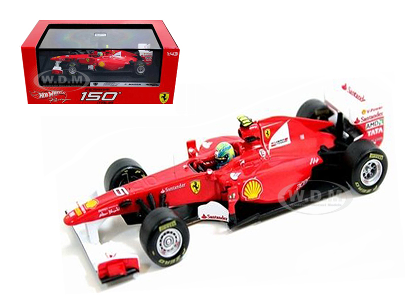 Ferrari F2011 150 Italia 6 Felipe Massa 2011 1/43 Diecast Car Model by Hotwheels