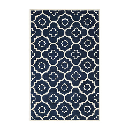 Safavieh Grigor Geometric Hand Tufted Wool Rug, One Size , Blue