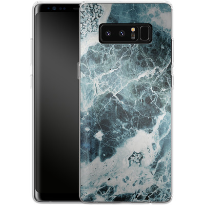 Samsung Galaxy Note 8 Silikon Handyhuelle - Blue Sea Marble von Emanuela Carratoni