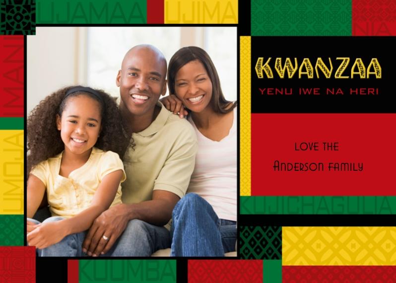 Kwanzaa Photo Cards 5x7 Cards, Premium Cardstock 120lb, Card & Stationery -Colorful Kwanzaa