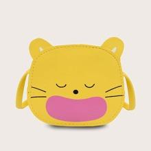 Girls Cat Design Crossbody Bag
