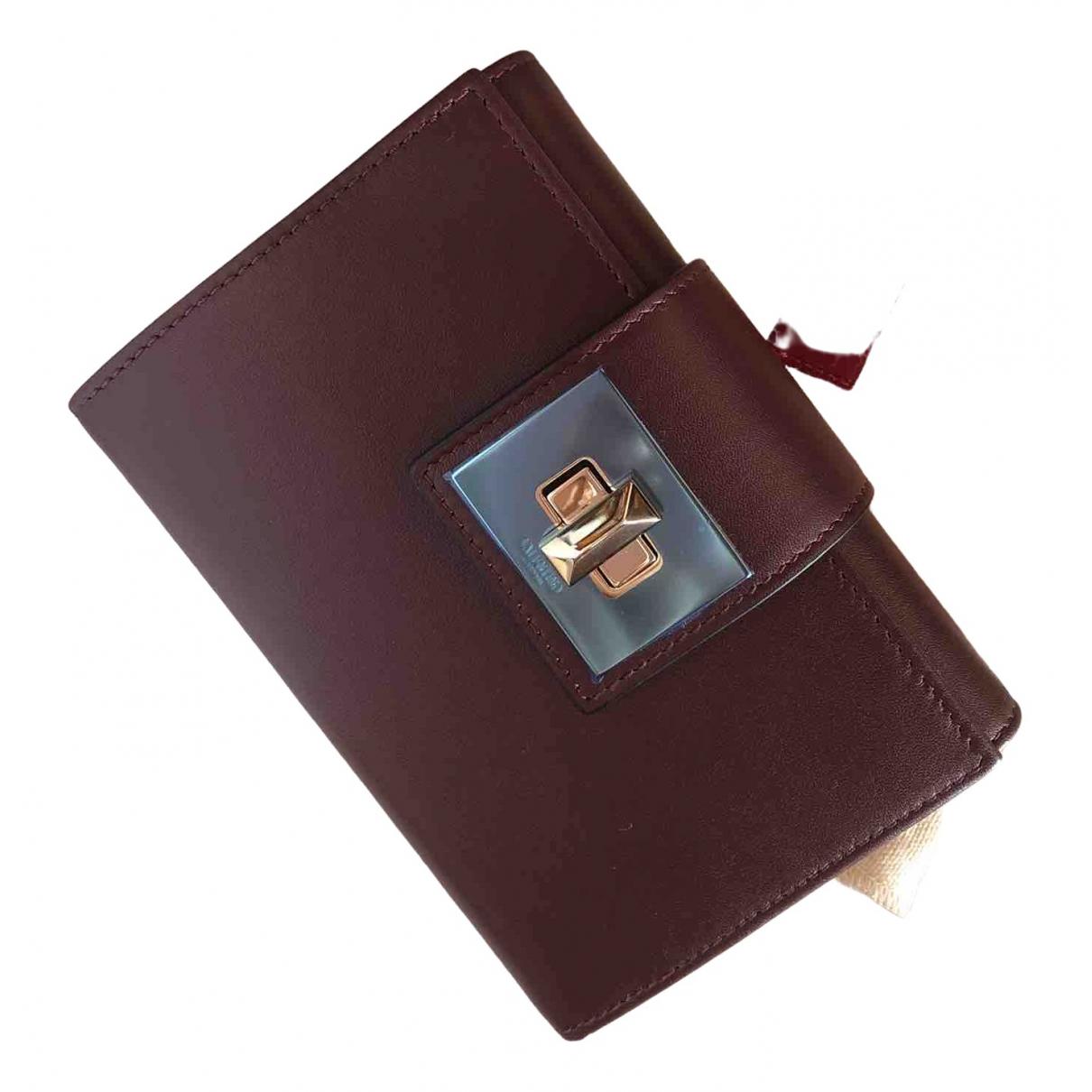 Valentino Garavani - Portefeuille   pour femme en cuir - bordeaux