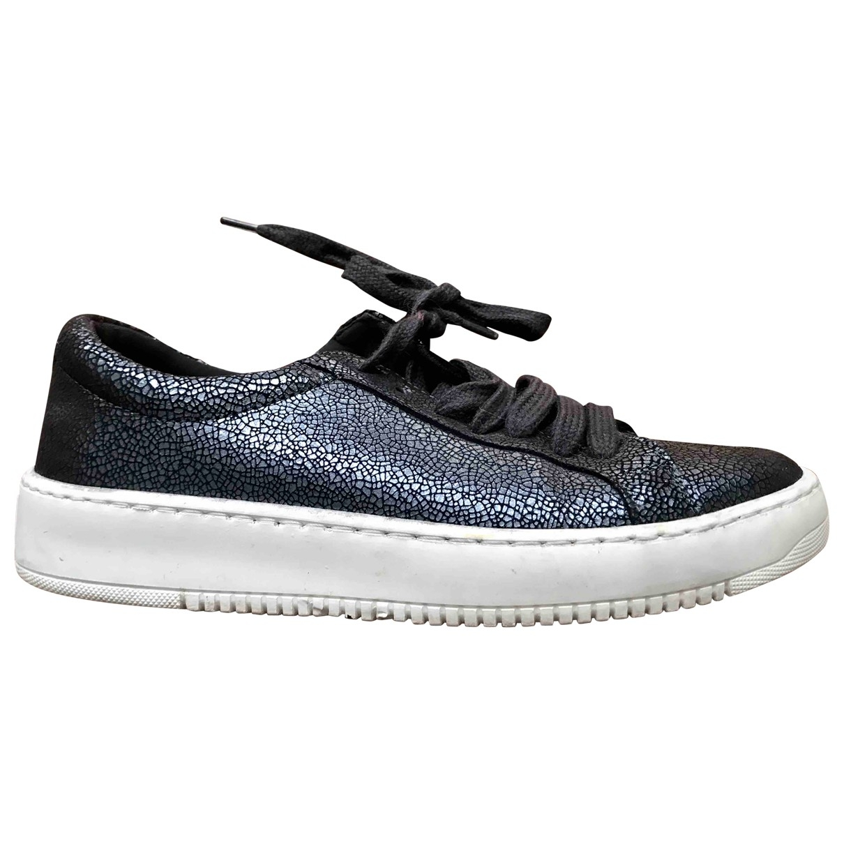 Ikks \N Sneakers in  Metallic Leder