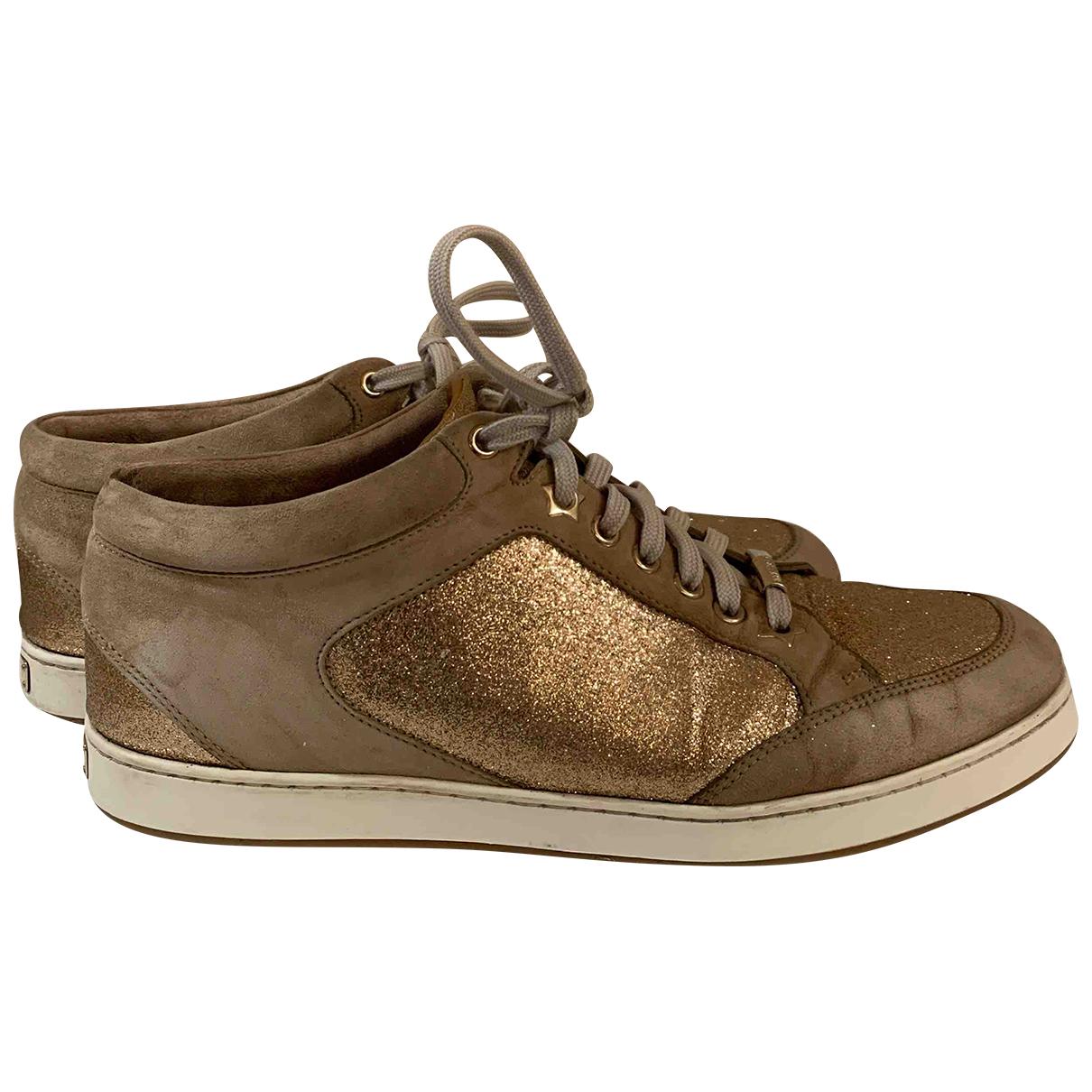 Jimmy Choo \N Sneakers in  Beige Leinen