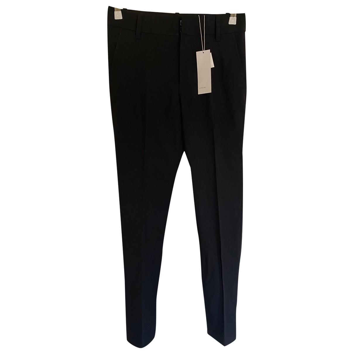 Vince N Black Wool Trousers for Women 4 UK