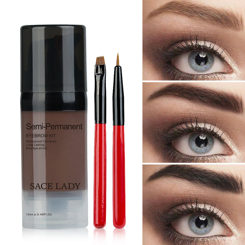 Eyebrow Gel 12ML Waterproof Lasting Eyebrow Tint With Brush Eye Makeup Cosmetic