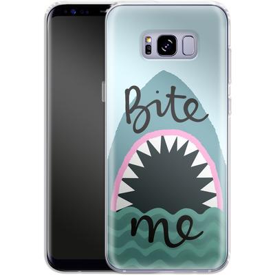 Samsung Galaxy S8 Plus Silikon Handyhuelle - Bite Me von caseable Designs
