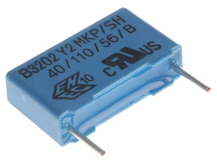 EPCOS 10nF Polypropylene Capacitor PP 300V ac ±20% Tolerance Through Hole B32022 Series (10)