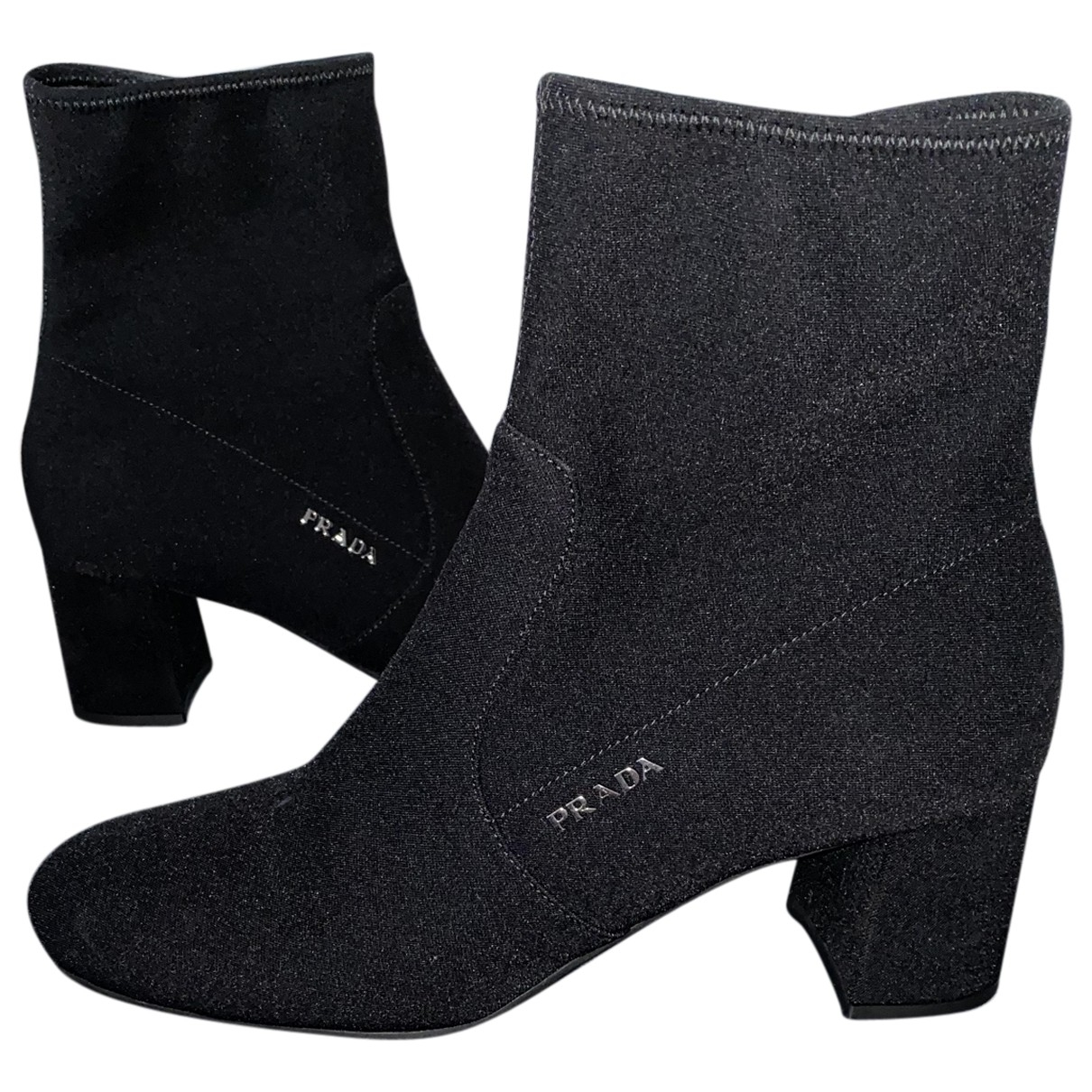 Prada \N Black Cloth Ankle boots for Women 6 UK