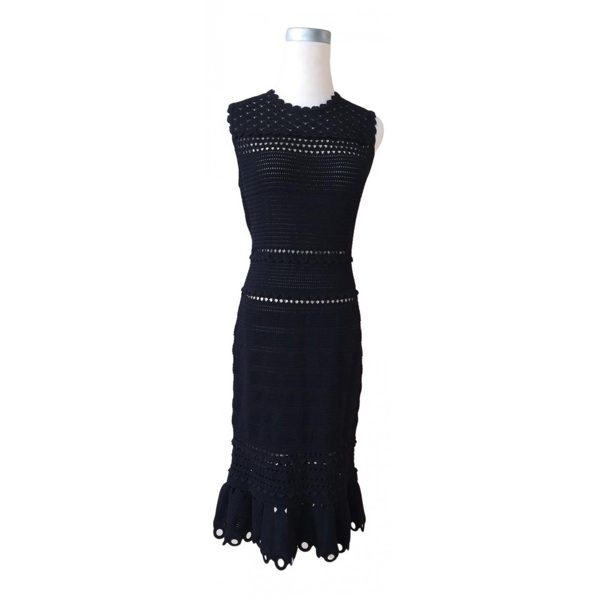 Alexander Mcqueen \N Kleid in  Schwarz Baumwolle