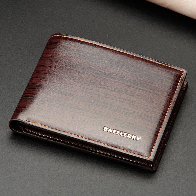 Men Short Bifold Card Holder Wallet