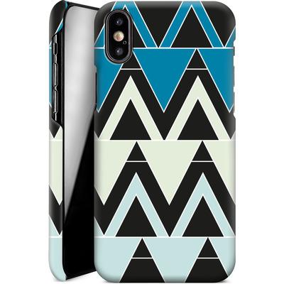Apple iPhone X Smartphone Huelle - Blue Triangles von caseable Designs