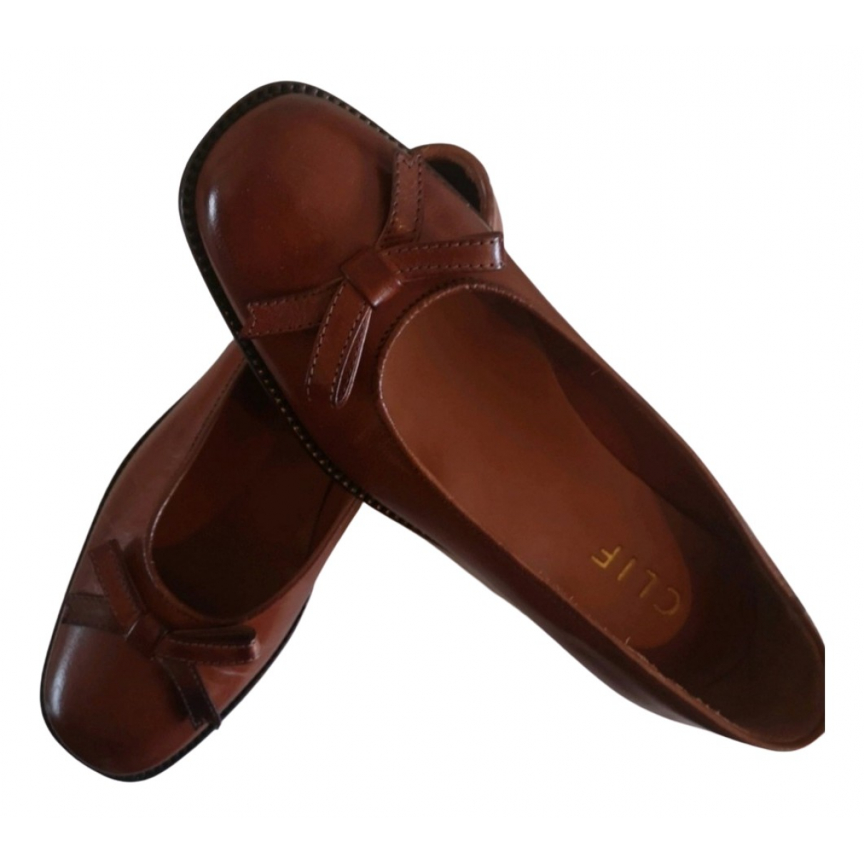 Non Signé / Unsigned N Brown Leather Ballet flats for Women 38 EU