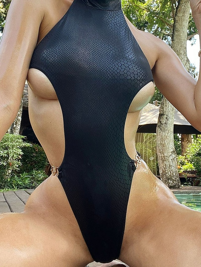 Ericdress Sexy Plain Womens One Piece Slim Swimwear