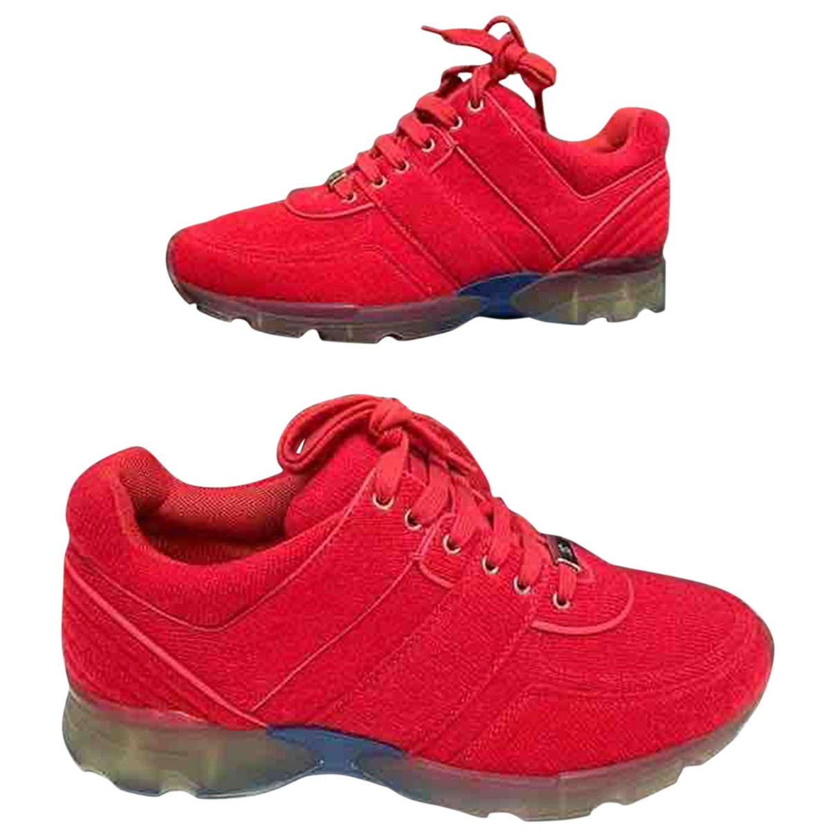 Chanel \N Red Tweed Trainers for Women 38 EU