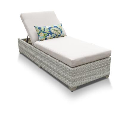 FAIRMONT-1x-BEIGE Fairmont Chaise Outdoor Wicker Patio Furniture with 2 Covers: Beige and