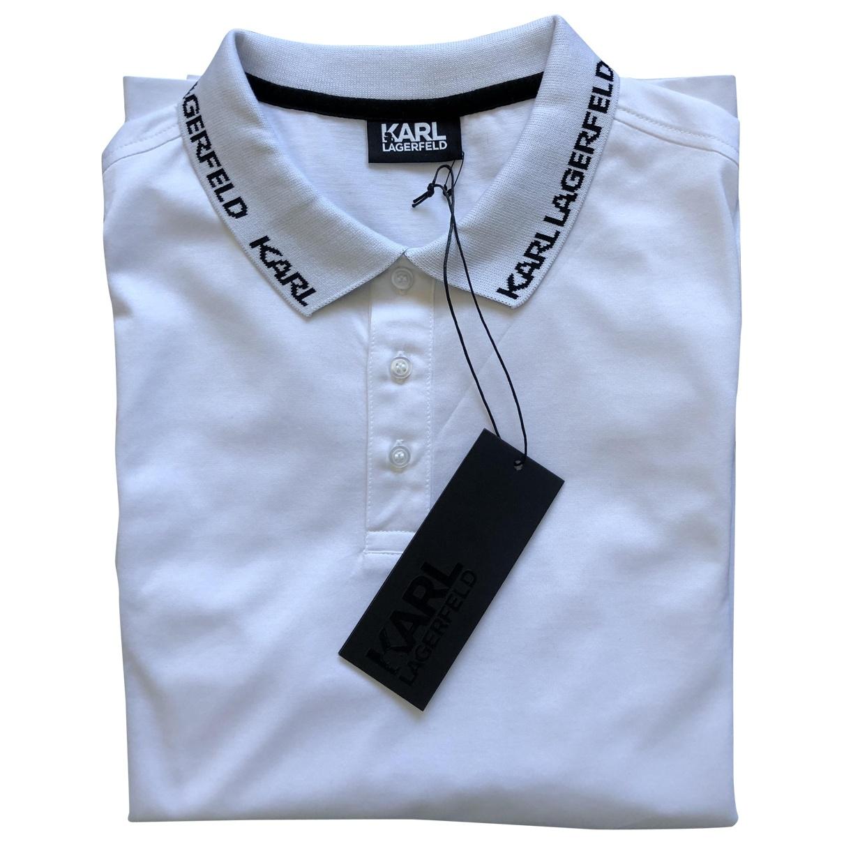 Polo en Algodon Blanco Karl Lagerfeld