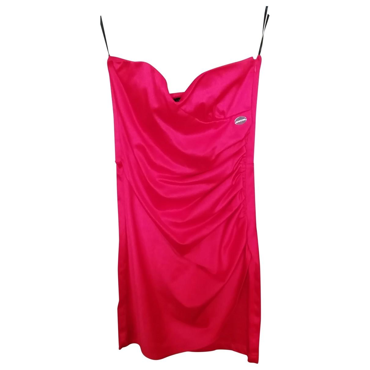 Mangano \N Kleid in  Rot Baumwolle - Elasthan
