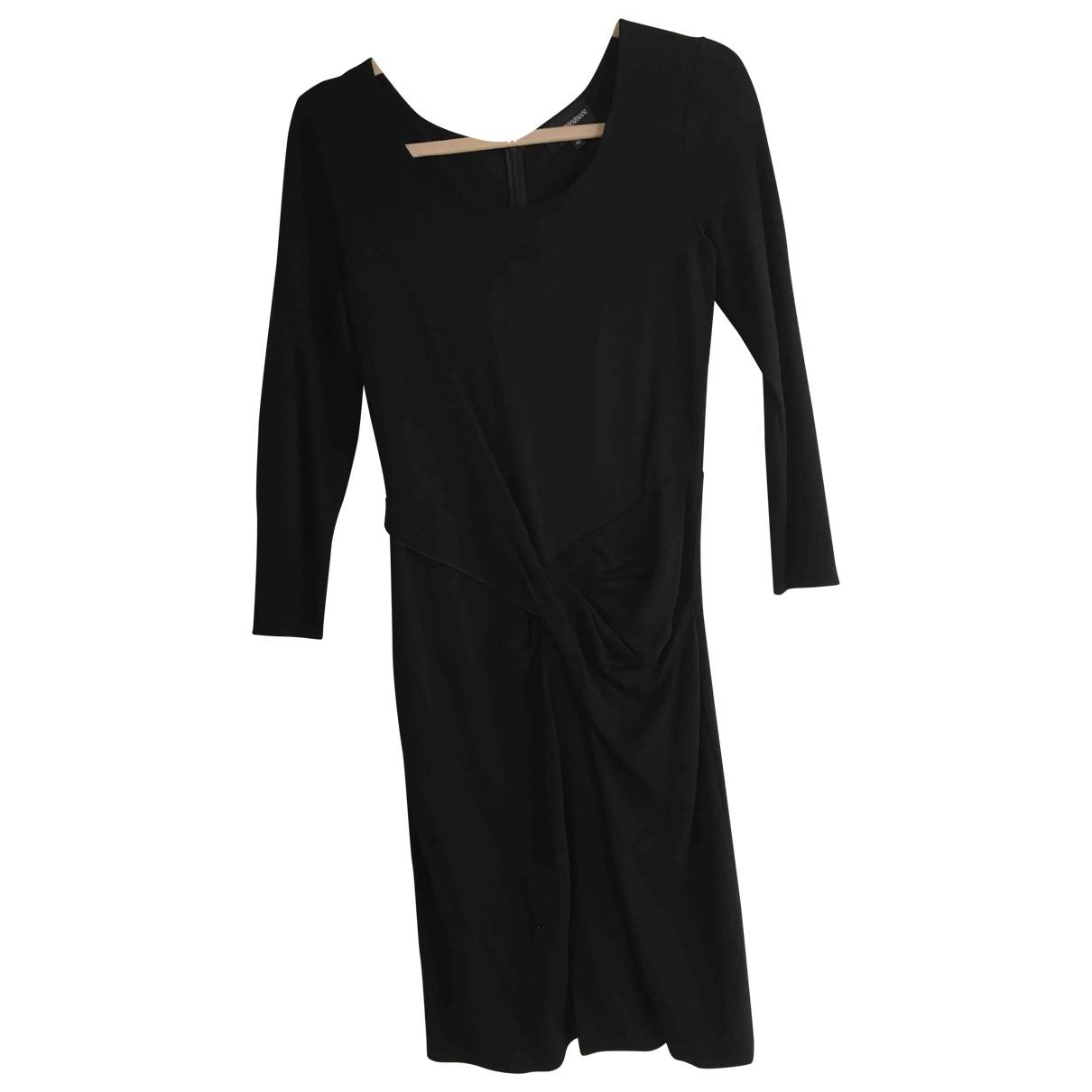 Emporio Armani \N Kleid in  Schwarz Baumwolle - Elasthan