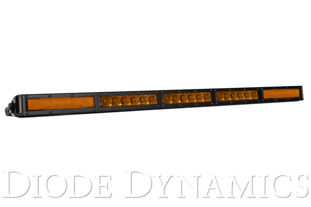 Diode Dynamics DD5054 30 Inch LED Light Bar  Single Row Straight Amber Combo Each Stage Series