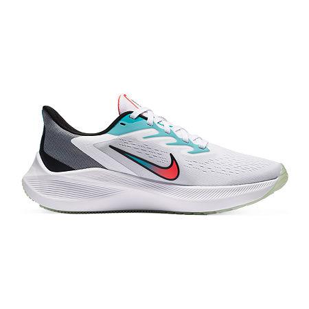 Nike Zoom Winflo 7 Womens Running Shoes, 7 Medium, White