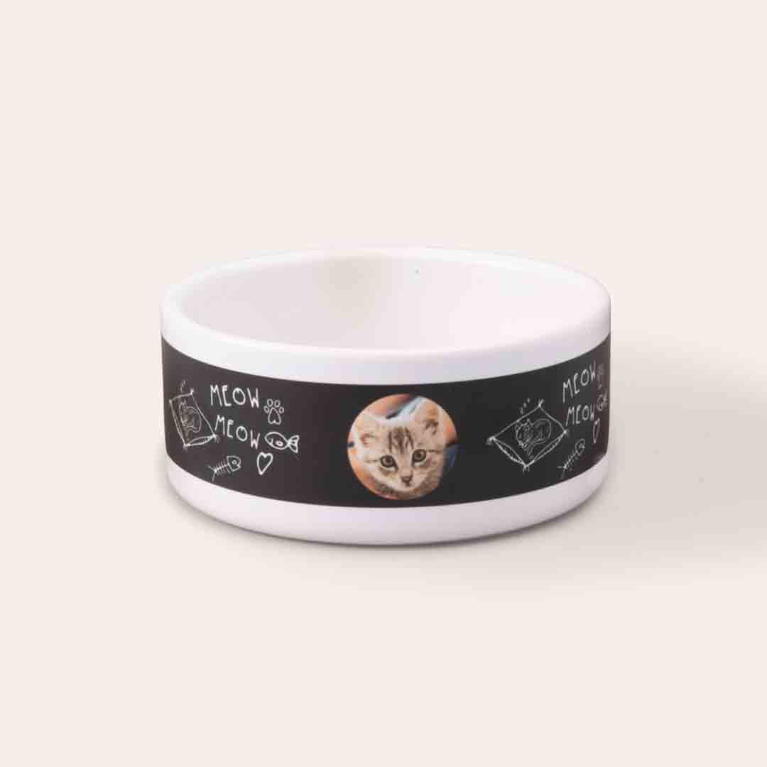 Featured Small Pet Bowl, Gift -Pure Bread Cat