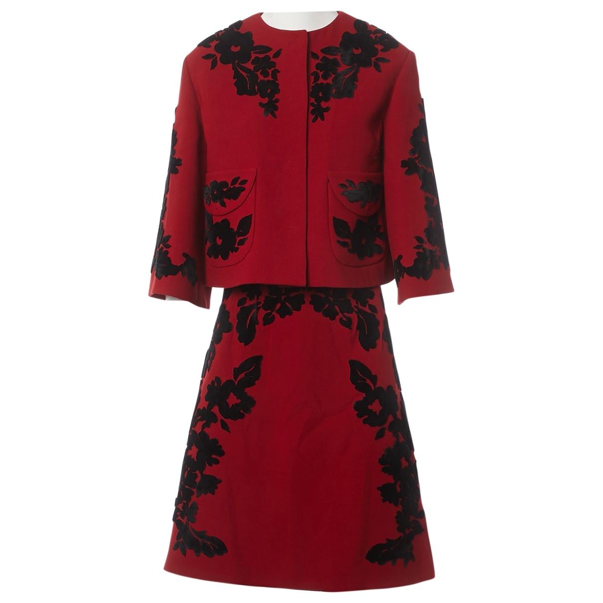 Dolce & Gabbana \N Jacke in  Rot Wolle