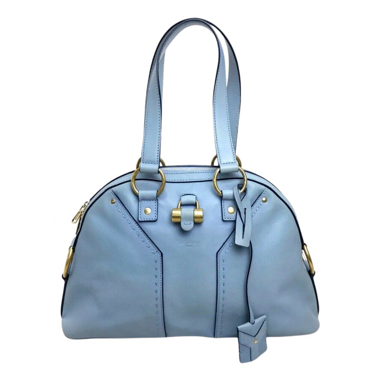 Yves Saint Laurent Muse Blue Leather handbag for Women N