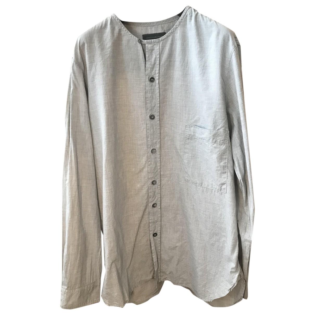 Lemaire - Chemises   pour homme en coton - gris