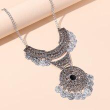 Round Tassel Charm Necklace